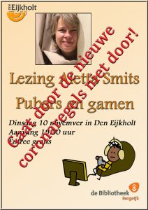 Pubers en gamen, lezing door Aletta Smits in Den Eijkholt